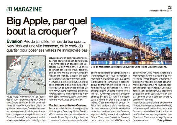 article 20 minutes paris fevrier 2019
