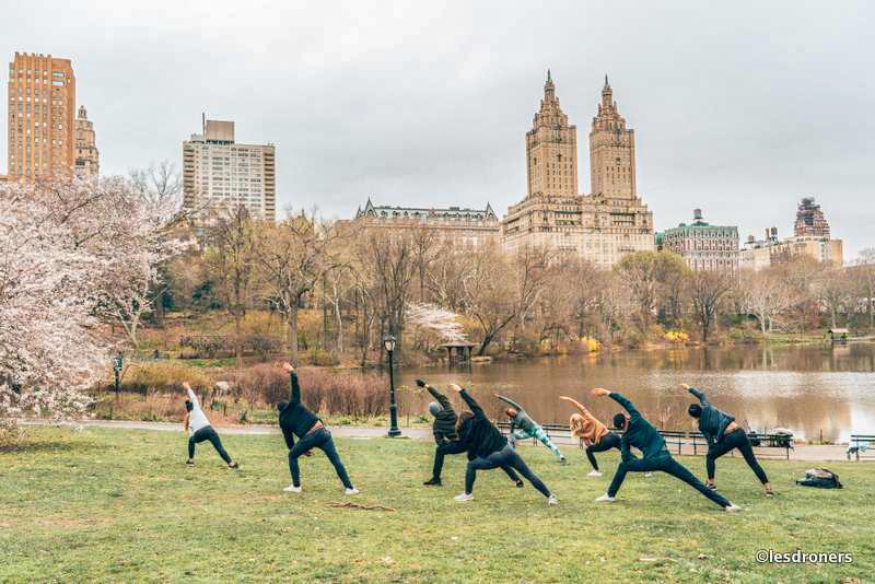 Réveil musculaire et yoga à Central Park