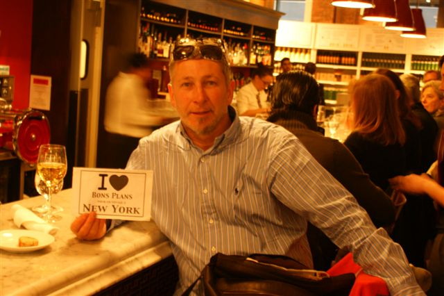Christophe au superbe restaurant italien Eataly - Novembre 2010