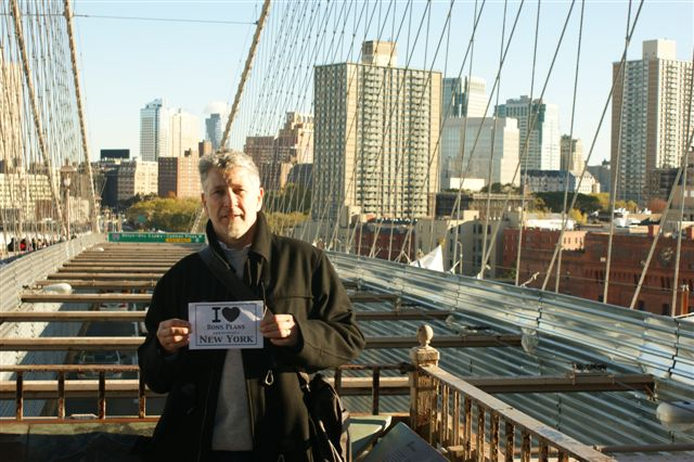 Christophe en balade sur le Brooklyn Bridge - Novembre 2010