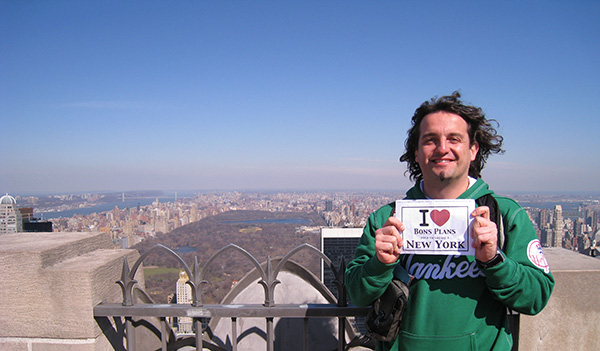 Gilles sur le toit du Top of the Rock - Mars 2011