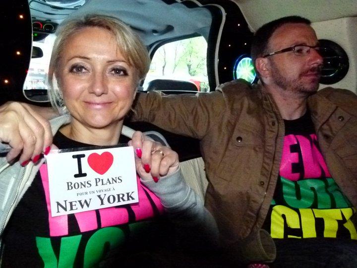Corinne & Olivier dans la limousine - Avril 2011