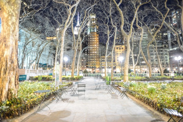bryant park night