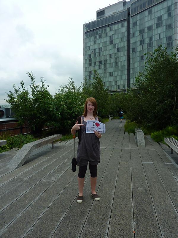 Petit clin d'œil de Clarinette sur la High Line - Août 2011