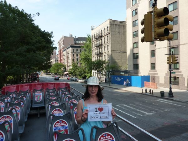 Patty sur le toit d'un bus CitySights - Août 2011