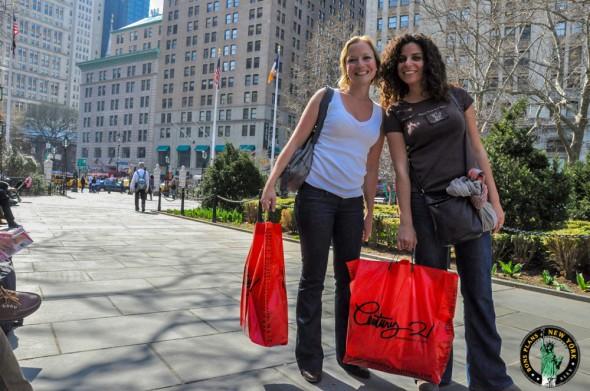 girls shopping Century 21
