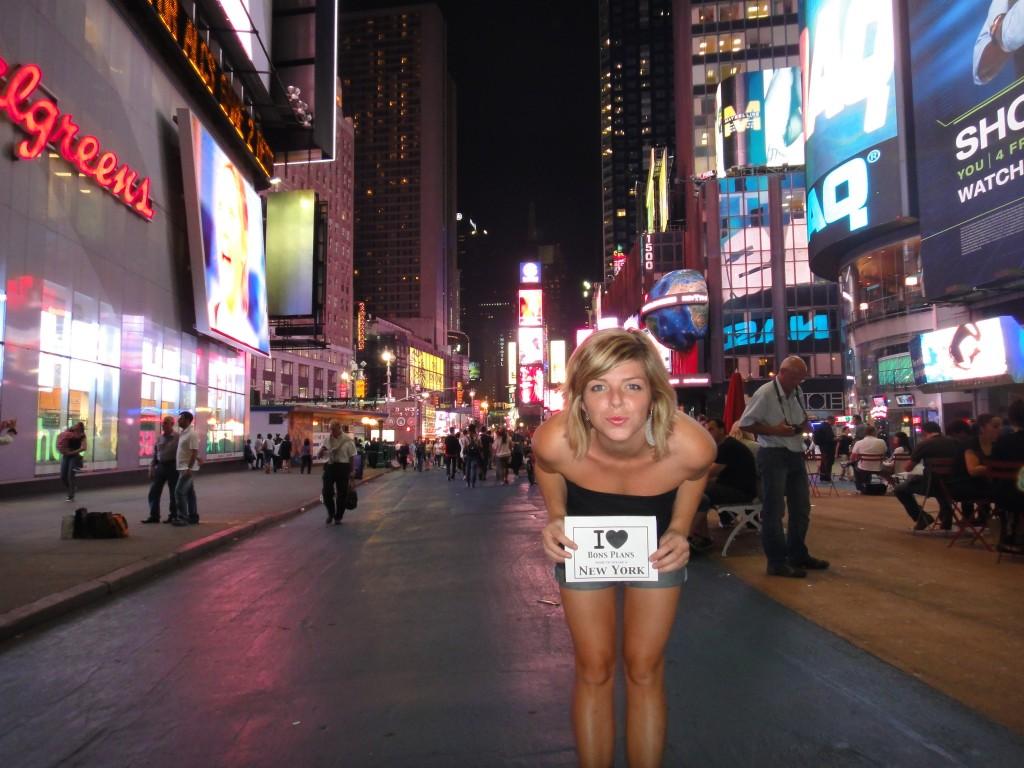 Clothilde à Times Square - Octobre 2011