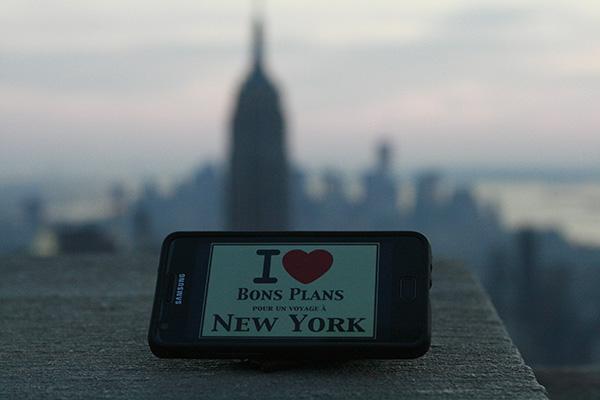 Melusine nous offre une superbe photo prise en haut du Top of the Rock avec au second plan l'Empire State Building et Financial District