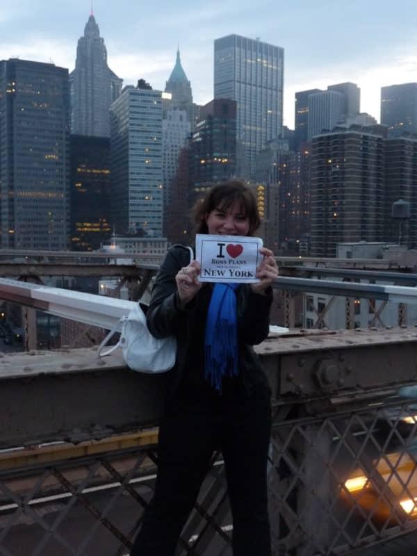 Jessica sur le Brooklyn Bridge - Mai 2011