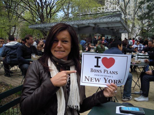 Miss Fireman au Shake Shack de Madison Square Park - Avril 2012