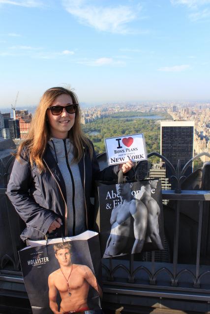 Camille & ses tops models au Top of the Rock avec vue sur Central Park - Avril 2012
