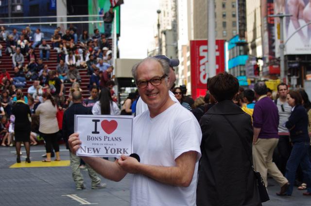 Karl à Times Square - Avril 2012