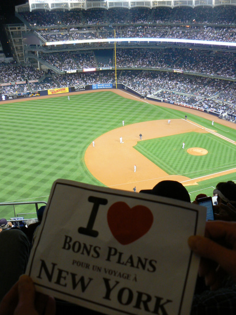 Sidonie au Yankees Stadium - Avril 2012