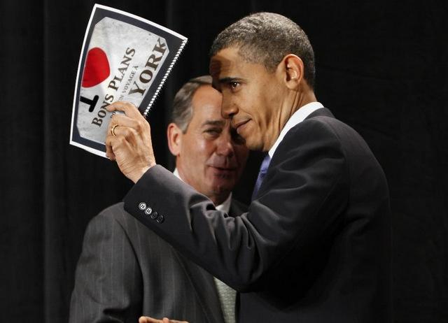 Photo-montage avec Barack Obama qui nous fait une dédicace - Août 2012