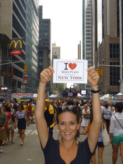 Sonia à la parade du Brazilian day - Septembre 2012