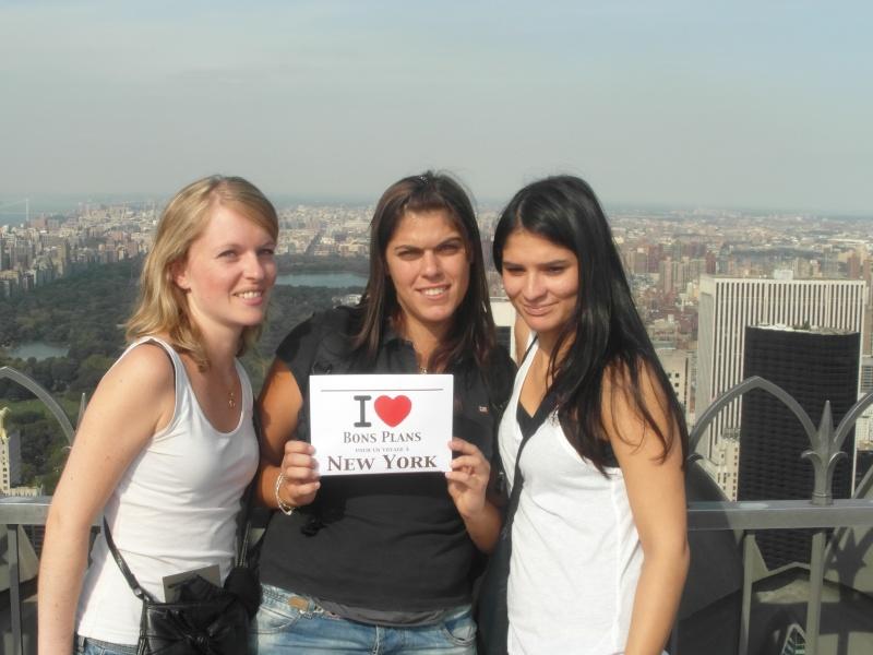 Caroline et ses deux copines au Top of the Rock - Septembre 2012