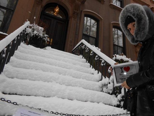 Le lendemain de la tempête de neige, c'était magique... Les fans de Sex and the City reconnaîtront cet endroit ! - Février 2013