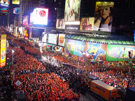 Times Square New Years Eve New York Ny