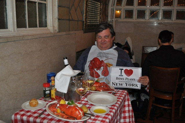 Michel à l'Oyster Bar lors du dîner du Réveillon - Décembre 2012