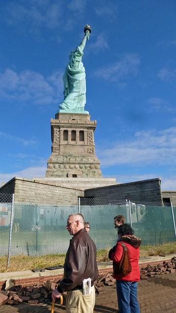Les dégâts de Liberty Island