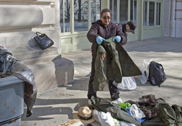 Nettoyage des objets du musée d'Ellis Island