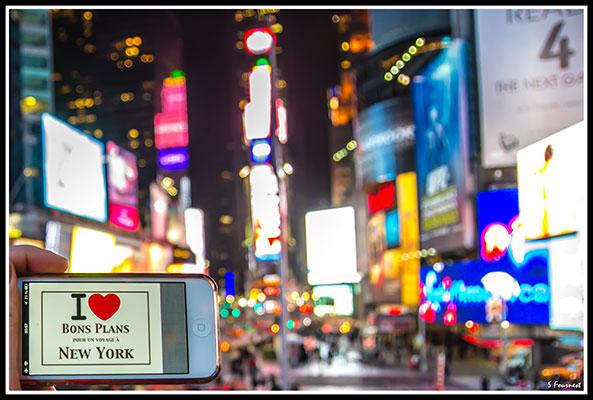 Sylvain à Times Square - Février 2013