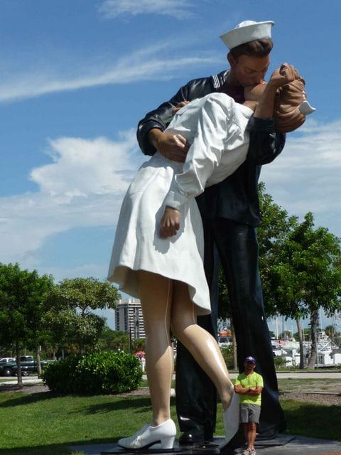 VJ Day in Times Square Sarasota Florida