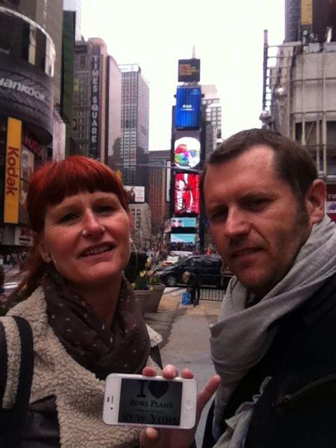 Muriel & David à Times Square - Avril 2013