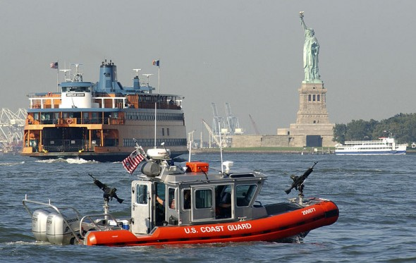 3 plans : US Coast Guard, Staten Island Ferry et Statue de la Liberté.