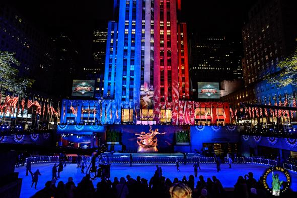 La Rockefeller Plaza en novembre 2012 juste avant les résultats des élections présidentielles - Alex les bons plans