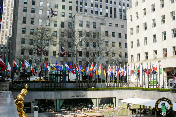 La Rockefeller Plaza en Avril 2008 avec son restaurant - Alex les bons plans
