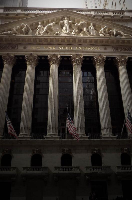 J'ai pris cette photo de la bourse de NYC lors de notre voyage d'octobre 2011 - Eric