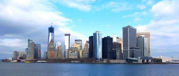 Vue sur Manhattan depuis le Ferry (décembre 2012) par Leslie B.