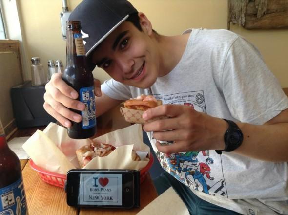 Le fils de Corinne approuve le bon plan Luke's Lobster - Avril 2013