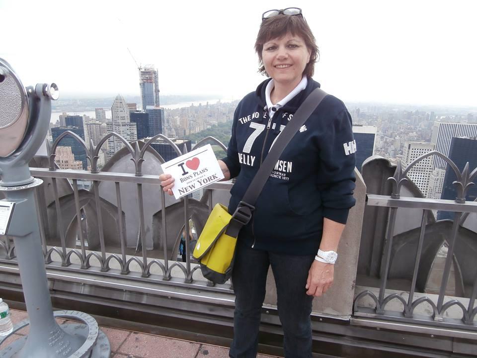 Katherine au Top of the Rock - Mai 2013