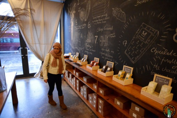Ma petite femme dans le magasin des Mast Brothers - Brookyn (NYC)