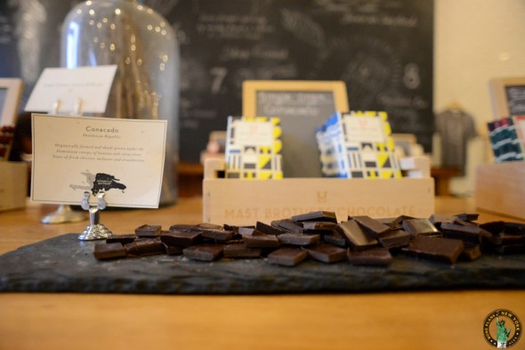 Tablettes de chocolat des Mast Brothers - Brookyn (NYC)
