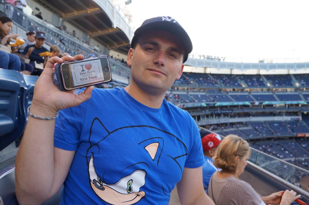 Kévin (et Mélissa) au Yankee Stadium - Mai 2013