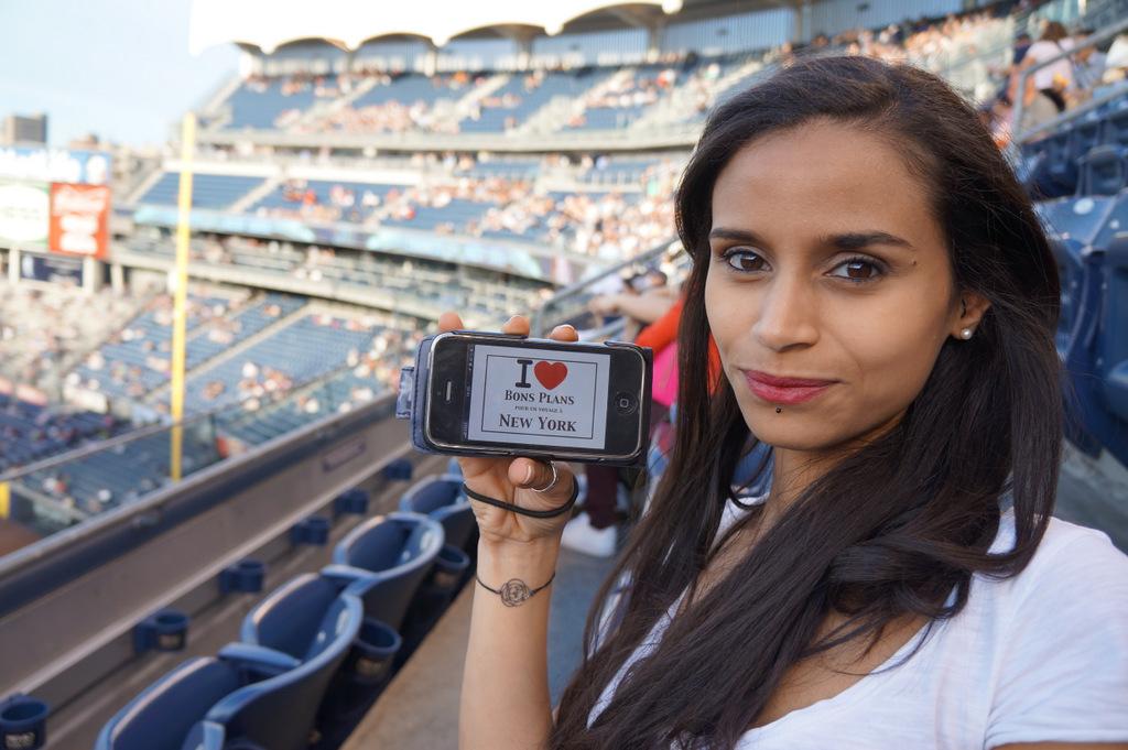 Mélissa (et Kévin) au Yankee Stadium - Mai 2013