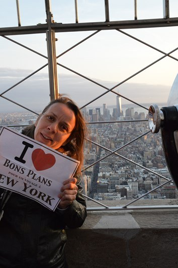Virginie sur l'Empire State Building - Avril 2013