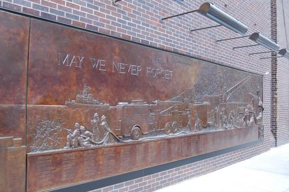 Une fresque magnifique sur les pompiers. Photo prise le 14 mars 2013. - Virginie D.