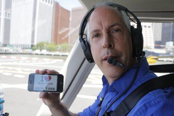 David, un pilote d'hélicoptère de New York, nous fait une dédicace ! Merci à Salvatore - Juillet 2013