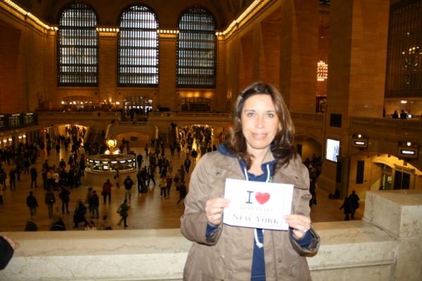 Bénédicte at Grand Central Terminal – Mai 2012
