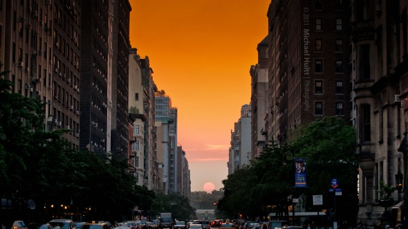 Manhattanhenge à New York City de Michael Huitt