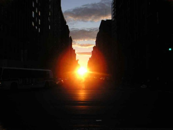 Manhattanhenge à New York City