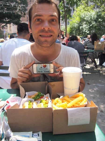 David au Shack Shake de Madison Square Park - Août 2013