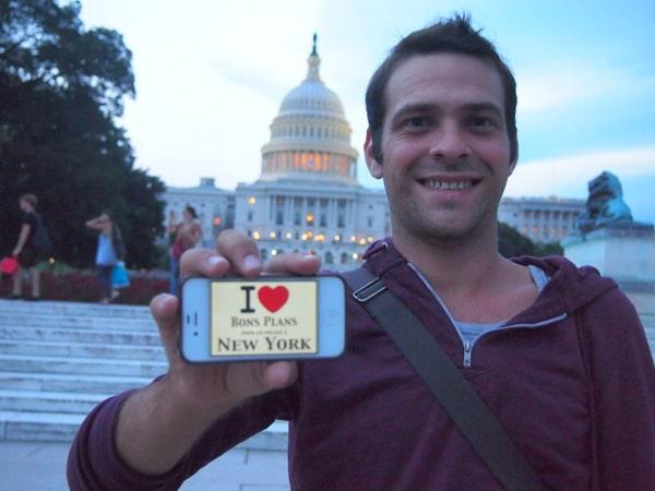 David devant le Capitole à Washington - Août 2013
