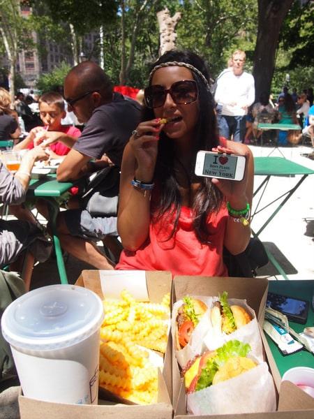 Amandine au Shack Shake de Madison Square Park - Août 2013