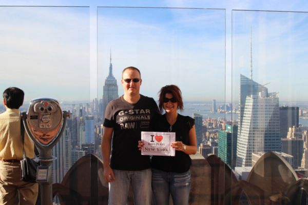 David et Mélanie au Top of the Rock - Octobre 2013