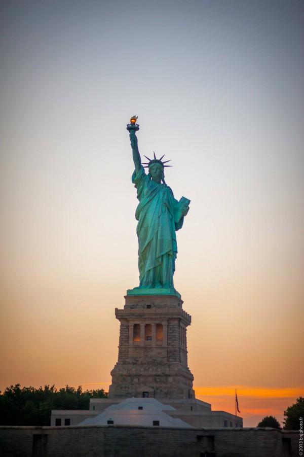 Benjamin MONDON - NYC - New York - Statue de la Liberté Couché de Soleil - Sunset